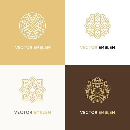 Vector set of logo design templates Illustration