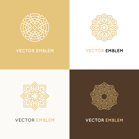 Vector set of logo design templates Stock Illustratie