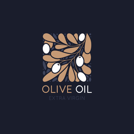 Vector   design template and badge design for packaging for olive oil products, natural and organic cosmetics and beauty products Zdjęcie Seryjne - 103008884