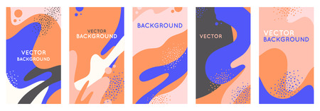 Vector set of abstract creative backgrounds with copy space for text - design templates