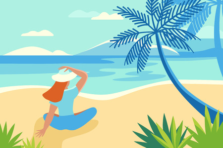 Vector illustration of a summer landscape Illustration