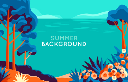 Background for advertising, summer holiday concept Çizim