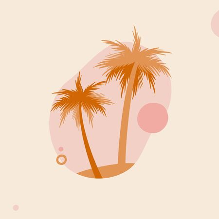 Vector illustration of palm trees and sky Ilustracja