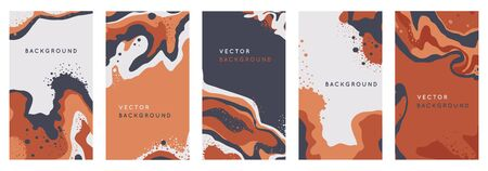 Vector set of abstract creative  in minimal trendy style with copy space for text Zdjęcie Seryjne - 140260124