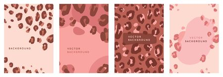 Vector set of abstract creative  in minimal trendy style Ilustracja
