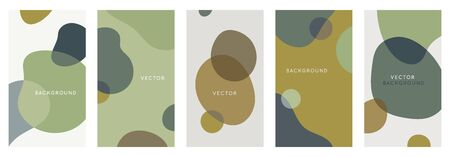 Vector set of abstract creative in minimal trendy style with copy space for text