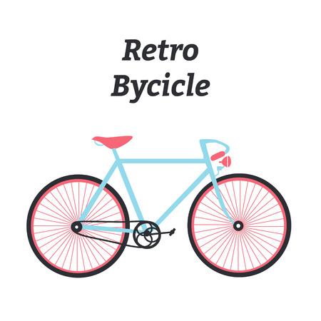 vélo Vintage. vélo plat. Rétro vélo. illustration.