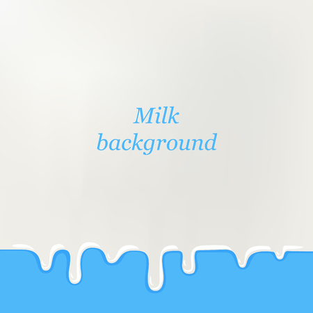 smudges: Milk background for greeting card, poster. White smudges splashes on blue background with your text.