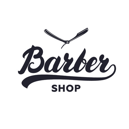caligraphy: Barber shop hand written lettering caligraphy
