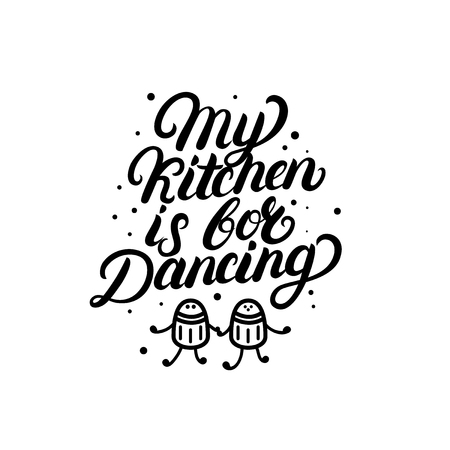 Mi Cocina Mi Cita De Las Letras De La Mano De Las Reglas. Caligrafía ...