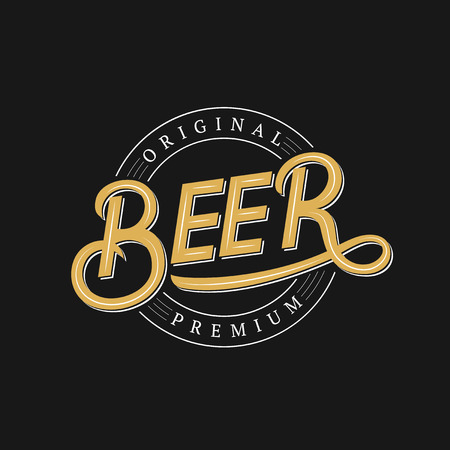 Beer vintage retro style lettering.