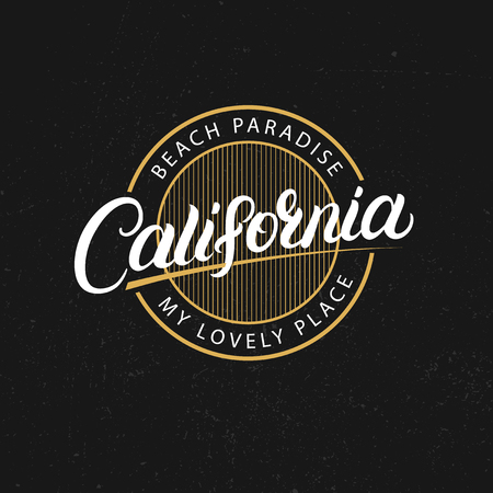 California college graphic illustration for tee print designs and others.