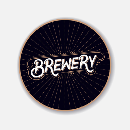 Coaster for beer with hand written lettering.