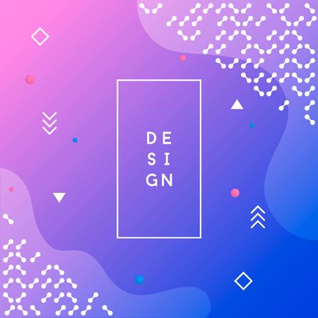 Minimal geometric background. Dynamic shapes composition. Vector illustration. Ilustração