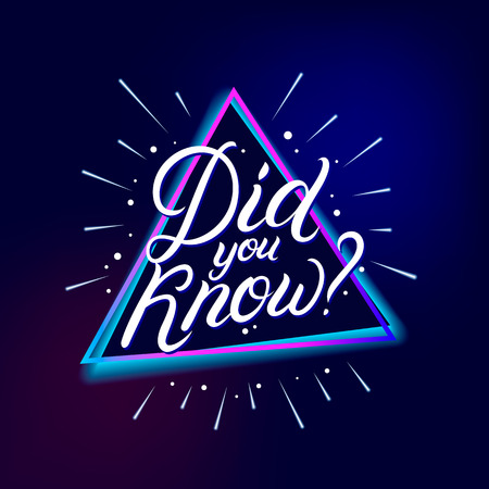 Did you know? hand written lettering. Modern brush calligraphy. Template for greeting card, poster, logo, badge, icon, banner. Vector illustration.