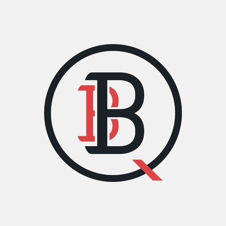 BBQ logo, label, badge, sign, emblem for barbecue, grill restaurant, steak house, meat store. Modern brush calligraphy. Vintage retro style. Vector illustration.