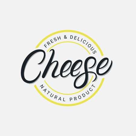 Cheese hand written lettering logo