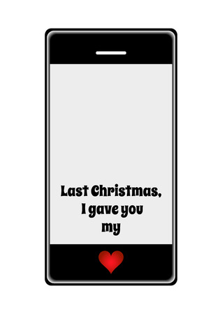 worldwide wish: Vector mobile phone with Christmas message