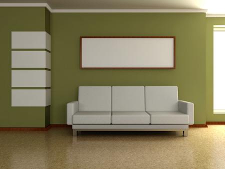 Modern Interieur Schilderij : Woonkamer interieur modern woonkamer schilderij groot woonkamer