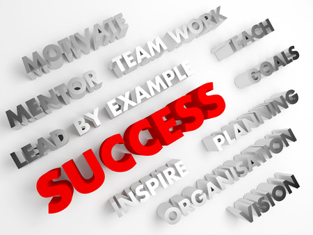 voluminous: Success. Concept abstract background with 3D voluminous words.