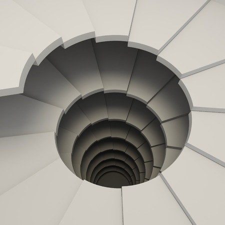 3D rendering of a spiral staircase, helix. The concept of climbing photo