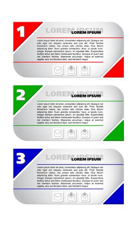 Collectie banners met gekleurde pijlen pointers modern design, elementen van infographics Stock Illustratie