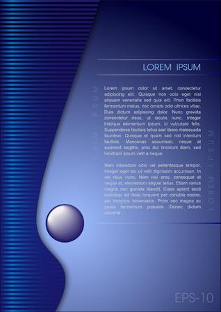 Color banner in modern design wave, sjabloon