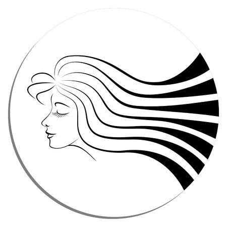 Diadeem van een jong meisje met lang haar