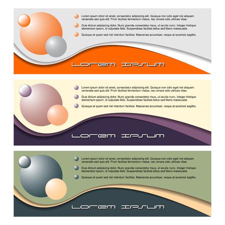 Color banner in modern design wave