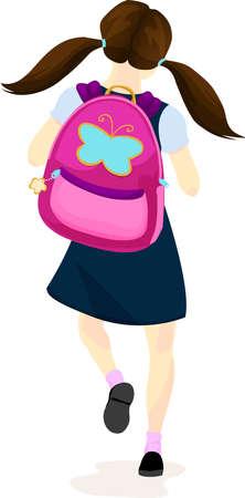 plaits: Happy Schoolgirl Walking to Class