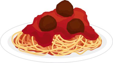 Plaat van Spaghetti Pasta