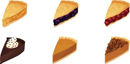 blueberry pie: Pie Slices