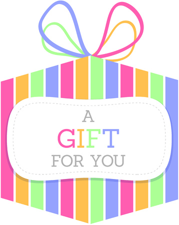 Colorful Striped Gift Box