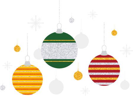 Glitter Stripe Christmas Tree Ornaments