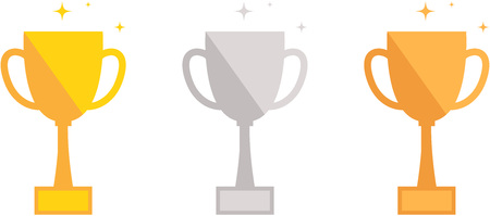 Gold, Silver, Bronze Trophies Çizim