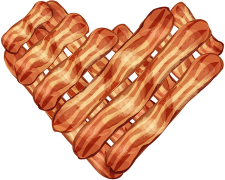 Bacon Strip Heart