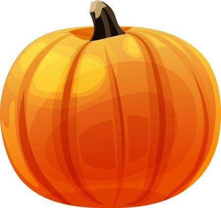 Isolated vector illustration of a single whole pumpkin. Banco de Imagens - 133343452