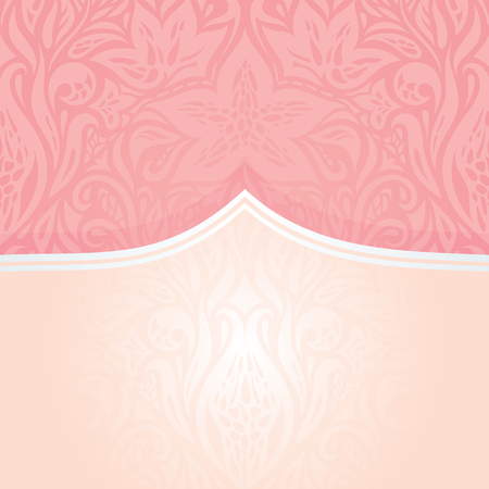 Pink silver retro decorative invitation fashion vintage vector wallpaper design