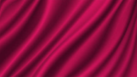 Abstract vector background luxury Magenta cloth or liquid wave Abstract or Magenta fabric texture background. Cloth soft wave. Creases of satin, silk, and cotton.