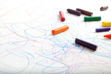 Large creative scribbles on paper. Stock Photo - 5565346