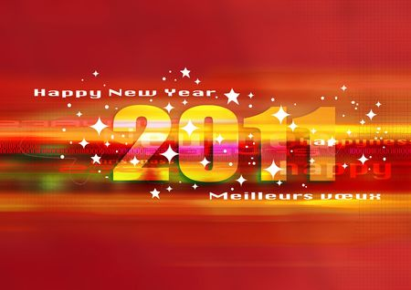 happy new year 2011  Stock Photo - 8040347