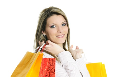young beautiful woman with shopping bags Stock Photo - 8942874