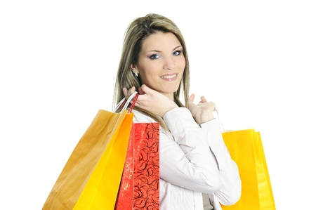 young beautiful woman with shopping bags Stock Photo - 9187682