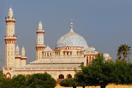 islamic pray: Famous Djourbel mosque, islamic site, Senegal, Africa