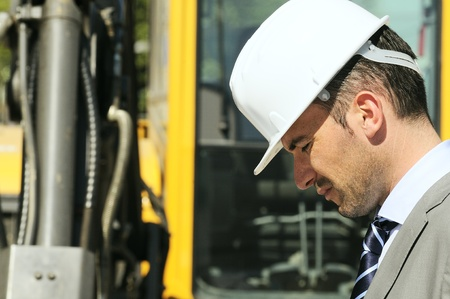 man wearing a helmet, manager, architect Stock Photo - 9530113
