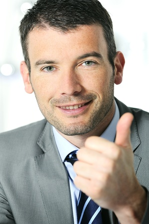 businessman is feeling good and showws it Stock Photo - 9530145