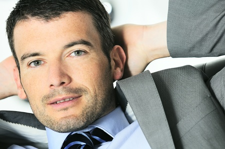 Attractive businessman is taking break from business Stock Photo - 9616210