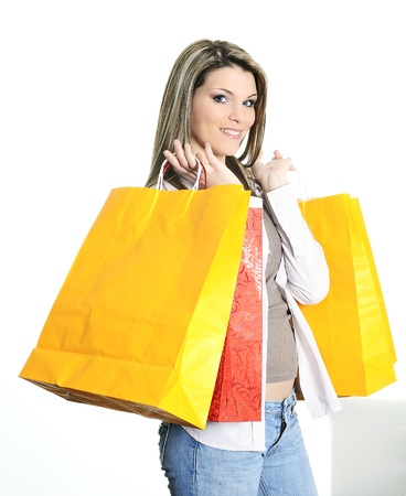 young beautiful woman with shopping bags Stock Photo - 9860364