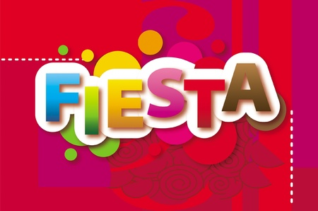 Fiesta Vector background Stock Vector - 9860562