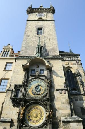 The famous Astronomical Clock in Prague, Czech Republic. photo